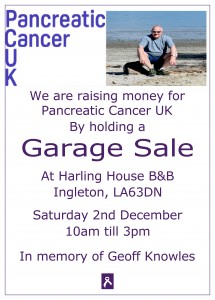 Garage Sale (in aid of Pancreatic Cancer UK) @ Harling House Bed & Breakfast