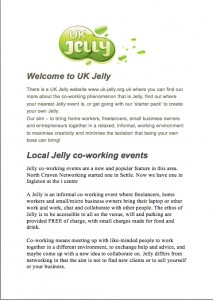 Ingleton Jelly - co-working event where freelancers, home workers and small business owners bring their laptop or other work and work, chat and collaborate with other small business owners @ i-Centre | Ingleton | United Kingdom