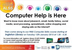 IT Skills Training, The Library @ Ingleborough Community Centre | Ingleton | England | United Kingdom