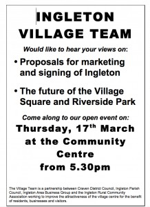 Public Presentation - Ingleton Village Team (Village centre regeneration) @ Ingleborough Community Centre | Ingleton | United Kingdom