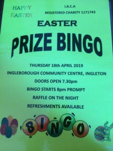 Easter Prize Bingo (IRCA) @ Ingleborough Community Centre | Ingleton | United Kingdom