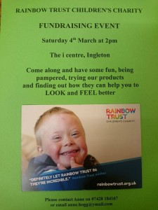 Forever Living sale/pamper afternoon, in aid of the Rainbow Childrens Trust @ i-Centre | Ingleton | England | United Kingdom
