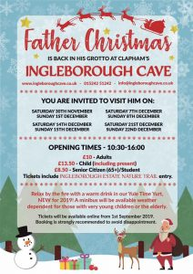 Visit Father Christmas in his Grotto @ Ingleborough Cave