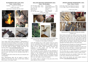 Wooden Spoon Carving Workshops - note dates for beginners and improvers. @ Broadrake | Chapel-le-Dale | England | United Kingdom