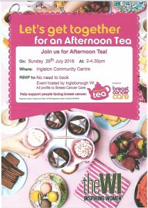 WI Afternoon Tea Party (all welcome) @ Ingleborough Community Centre | Ingleton | England | United Kingdom
