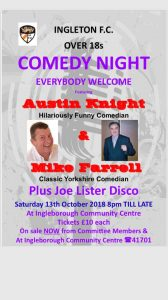 Ingleton FC Comedy Night @ Ingleborough Community Centre | Ingleton | England | United Kingdom
