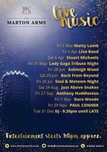 Live Music - Just Above Snakes @ The Marton Arms