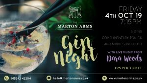 Gin Night followed by Live Music @ The Marton Arms