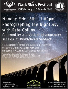 Dark Sky Festival Event - Photographing the Night Sky @ Broadrake & Ribblehead Viaduct