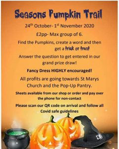 Half Term Halloween Trail @ From Seasons Bakery